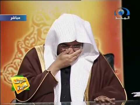 الشيخ المغامسي يبكي للفلسطيني الذي رفع يده للتشاهد