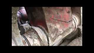 Welding repair to broken excavator