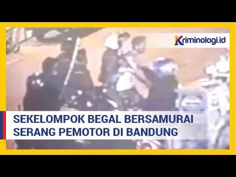 Berita Kriminal : Aksi Begal Bersamurai di Bandung