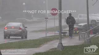 11-12-2018 Macomb, IL - Snowfall affecting Western Illinois University commuters; low visiblity
