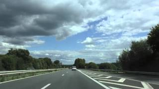 preview picture of video 'Driving On Route Nationale 12 From Locménard To Plérin, Cotes d'Armor, Brittany, France 21st August'