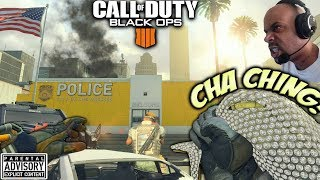 """New """"CHA-CHING"""" MONEY BAG Melee Weapon 😈 Black Ops 4 OPERATION GRAND HEIST 💰 Patch update 1.13"""