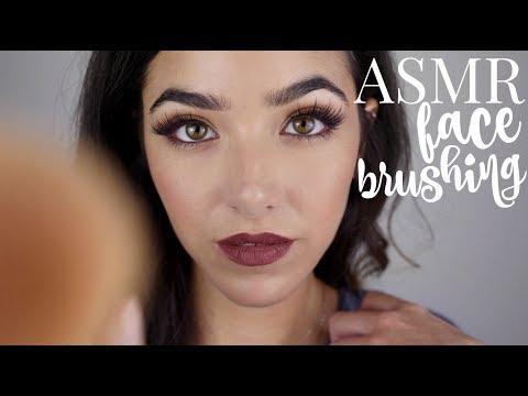 ASMR Face Brushing (With Brushing Sounds!! + Breathing sounds)