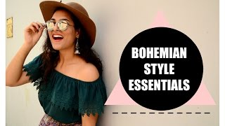BOHO STYLE ESSENTIALS : My Take On Wearble Bohemian Style | StyleMeUpWithSakshi