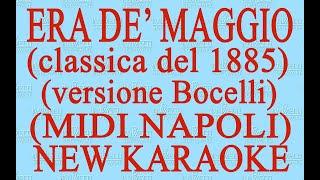 Era de maggio - A. Bocelli - new karaoke - Midi Napoli - Antologia della canzone napoletana