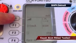 Kaçak Akım Koruma Rölesi Testi   SANPA Elektronik