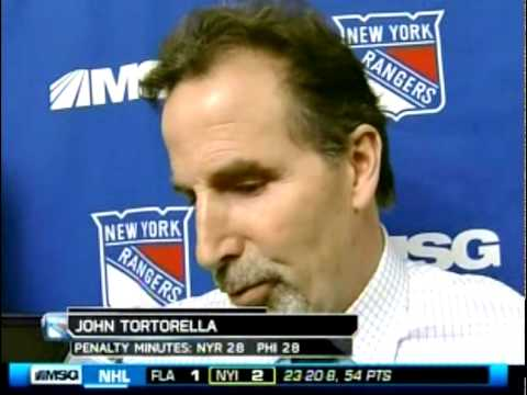 Tortorella Takes On Larry Brooks
