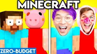 MINECRAFT WITH ZERO BUDGET! (Funny Minecraft Piggy PARODY By LANKYBOX)