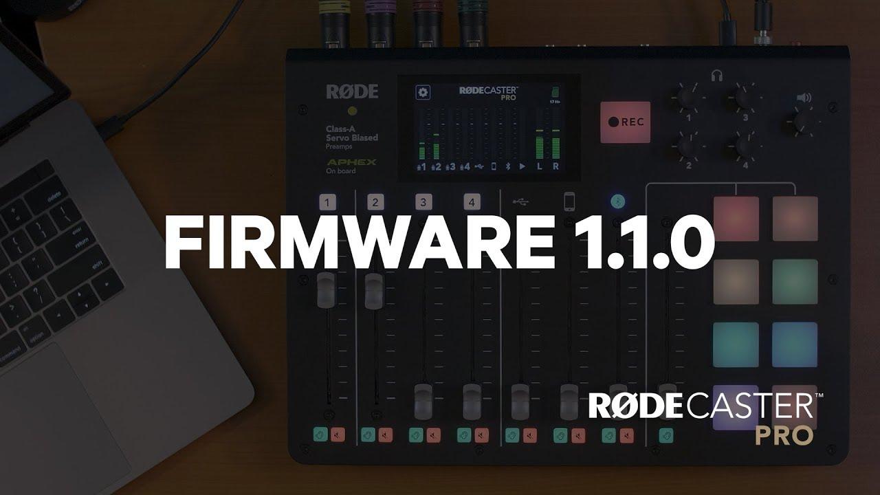 Firmware 1.1.0 - přehled