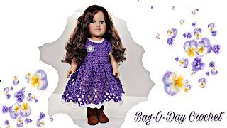 "How To Crochet | Pansy Paradise | American Girl  18"" Doll Dress 