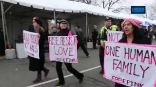 Code Pink Disrupts Trump's Inauguration