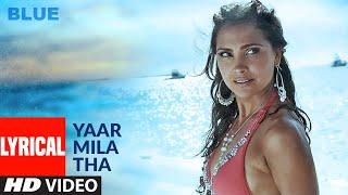 Lyrical: Yaar Mila Tha | A.R. Rahman | Sanjay Dutt, Akshay Kumar, Zayed Khan , Lara Dutta