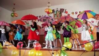 """""""танець з парасольками"""" свято """"EТЮДИ ОСЕНІ"""" - 4 школа, м.Новий Розділ"""