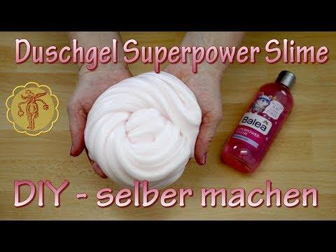 Slime: Duschgel Superpower Slime - selber machen - DIY
