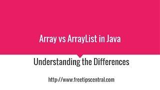 Array Vs ArrayList In Java Video
