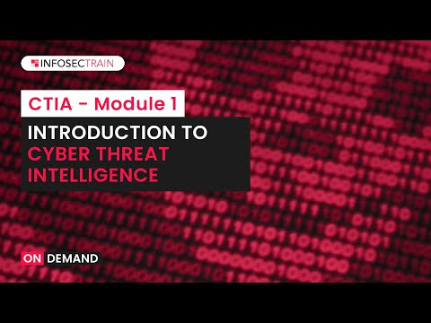 Introduction to Cyber Threat Intelligence | Certified Threat ... - YouTube
