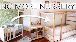 Montessori Baby Room Makeover | Crib to Floor Bed