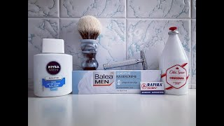Wet Shaving - Balea MEN SENSITIVE, Nivea SENSITIVE, Mühle R89, Rapira SWEDISH SUPERSTEEL, Old Spice