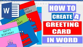 How to create a GREETING CARD in WORD   Tutorials for Microsoft Word