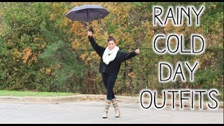 Rainy Cold Day Outfits for Fall