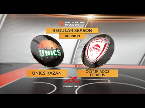 EuroLeague Highlights RS Round 21: Unics Kazan 75-90 Olympiacos Piraeus