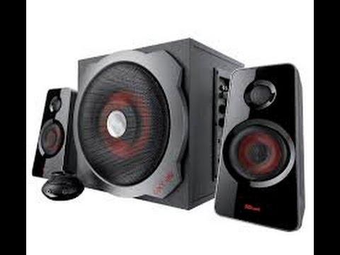 Trust Tytan 2.1 Lautsprechersystem mit Subwoofer schwarz/rot (Trust GXT 38) [FULL/HD] [GER]