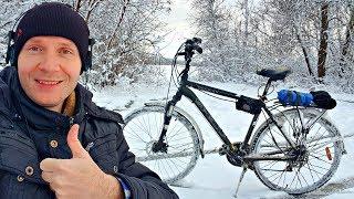 ✅На что способен Электро-Велосипед ЗИМОЙ 🚴 Суровый тест мотор колеса
