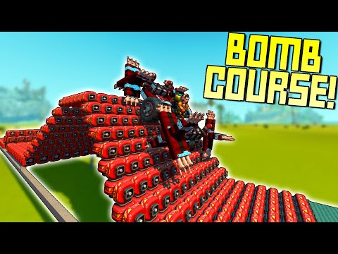 Off-Road Obstacle Course Made of Bombs!  - Scrap Mechanic Multiplayer Monday