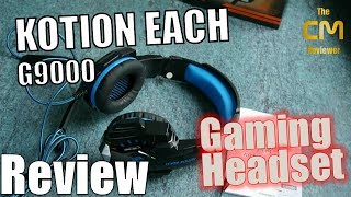 KOTION EACH G9000 Test: Gaming Headset TRRS 3.5mm + USB A (LED-Licht)