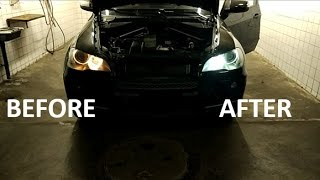BMW X5 E70 Angel Eyes Bulbs Replacement / Wechseln (FULL TUTORIAL)