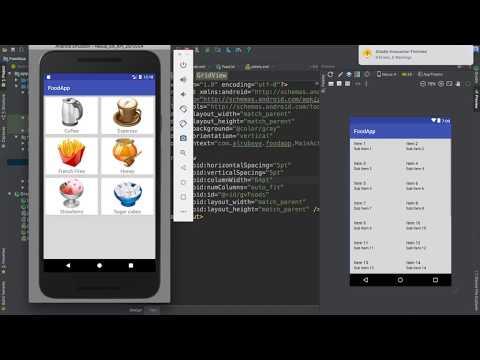 67- Android Food App || GridView - تطبيق عالم الطبخ