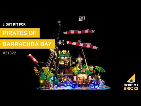 Light my bricks Kit di illuminazione a LED per LEGO 21322 I pirati di Barracuda Bay