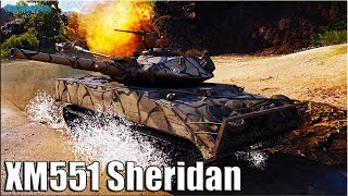 СТАТИСТ на ЛТ 10 XM551 Sheridan World of Tanks