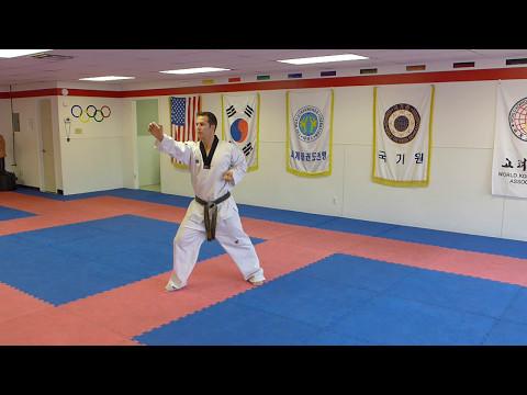 Taekwondo Forms Poomsae Keumgang pattern - 2nd Degree Black Belt Form