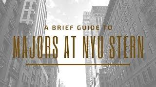 How Majors Work at NYU Stern