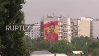 Russia: Ramos gets nine-story portrait before friendly against Tunisia in Krasnodar