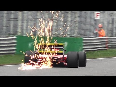 1989 Ferrari 640 F1 (F1-89) ex Berger in action - V12 Sound, Sparks & Vapour Trails!