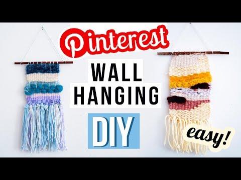 4 WALL HANGING Pinterest DIY Ideen - Wandteppich selber machen // I'mJette