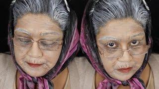 Old Age (Old Lady) Halloween Makeup Tutorial / Nishi V