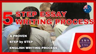The 5 Step Essay Writing Process - Essay Writing for ESL Stu