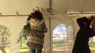 Trellis, Arch Or Chuppah Decorating And Floral Design