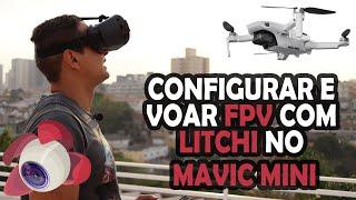 Primeiro voo FPV no Mavic mini com Litchi, Explico como conectar com o Iphone