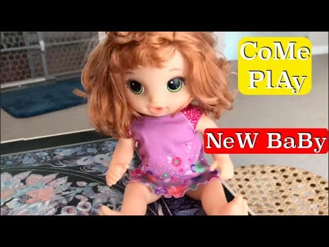 SZANNA The Two Year Old Playing with her Baby ALive who she named B.B. Come watch her pretend play