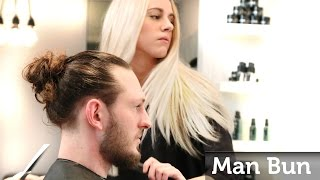 Man Bun - How To Make The Famous Celebrity Top Knot - Mens Long Hair