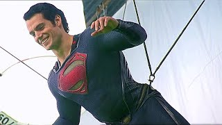 Stunts & VFX Superman vs Zod 'Man of Steel' Behind The Scenes [+Subtitles]