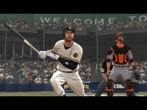 MLB Today 5/27 - Milwaukee Brewers vs San Francisco Giants Full Game Highlights (MLB The Show 20)