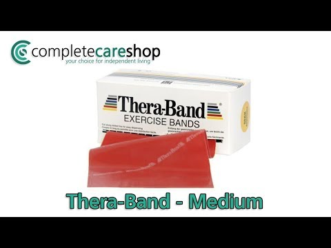 Red Thera-Band Exercise Band Demo