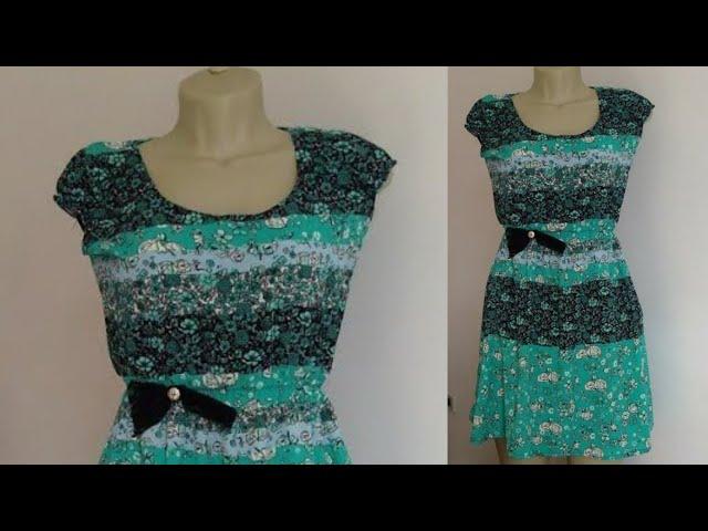 Corte e costura vestido facil