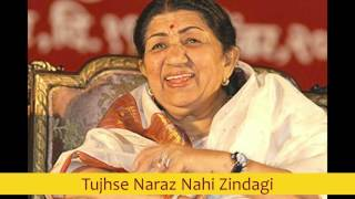 Tujhse Naraz Nahi Zindagi - Lata Mangeshkar best early 80's songs