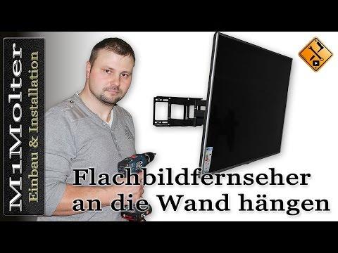 Flachbildfernseher an die Wand hängen - So geht`s. M1Molter